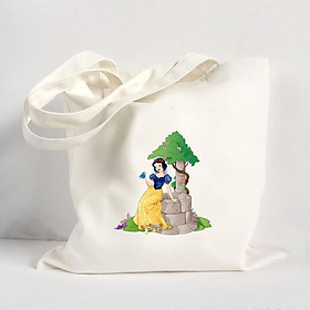 Túi Vải Đeo Vai Tote Bag In Hình Snow-White-Png-File