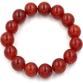 Vòng đeo tay chuỗi hạt đá vân rồng đỏ - Chuỗi hạt đeo tay phong thủy - Kích cỡ phù hợp cho nam