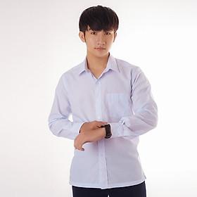 Áo đồng phục học sinh, áo sơ mi trắng vạt ngang tay dài - NH Shop