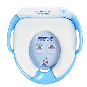 Bệ ngồi toilet cho bé - Bệ đi vệ sinh có tay vịn dành cho bé từ 1 tuổi đến 4 tuổi (xanh)