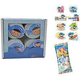 Hộp 4 lọ ruốc cá hồi Meiwa vị nguyên bản – Tặng kẹo popin soda + sticker