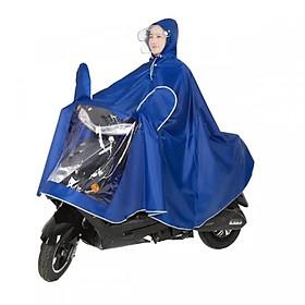 Áo mưa phản quang lái xe có kính che mặt (Giao màu ngẫu nhiên)