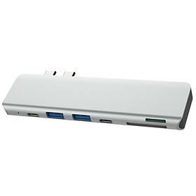 Hub chuyển Thunderbolt 3 cho Macbook 7 cổng HDMI/ PD/ USB 3.0 - TTH70561