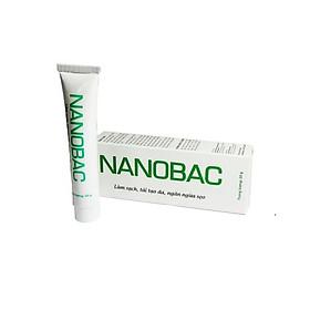 Kem NANOBAC tuýp 20g, làm sạch, tái tạo, ngăn ngừa sẹo. Kích thích tái tạo da trong các trường hợp da yếu, tổn thương, da bị mụn( hàng chính hãng)