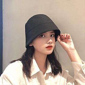 Mũ Bucket Thiết Kế Vành Cụp Đơn Giản Trẻ Trung Phong Cách Nhật Bản