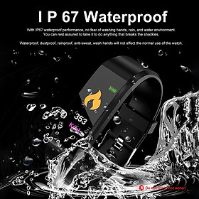 Smart Bracelet Fitness Tracker 0.96in TFT Display Screen Heart Rate Monitor Sleep Monitoring Call Reminder Smart Band Sport Pedome-5