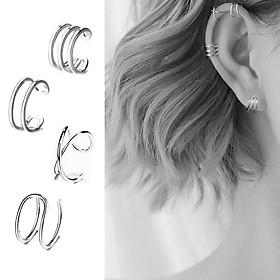 Bông tai nữ Miuu Silver, 3 mẫu khuyên tai bạc kẹp vành