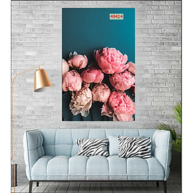 Tranh treo tường đẹp phòng khách hoa hiện đại/Tranh GP gỗ MDF nhập khẩu Hàn Quốc 49414