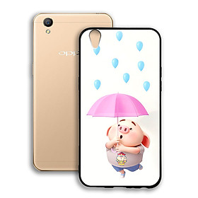Ốp lưng viền TPU cho điện thoại Oppo Neo 9 A37 - 02066 0523 PIG26 - Hàng Chính Hãng
