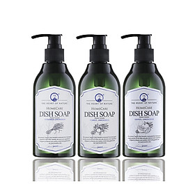 COMBO 3 Chai Nước Rửa Chén Tinh Dầu Thảo Mộc Hữu Cơ Organic PK 300ML - Hương thơm tinh dầu dịu nhẹ - Mềm mại cho da tay mẹ, an toàn cho bé.