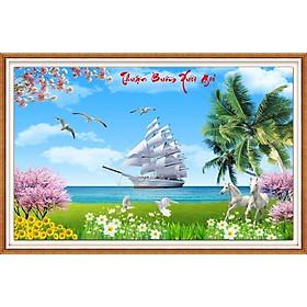 tranh đính đá Thuận buồm xuôi gió - chưa đính