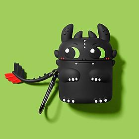 Bao Case Silicon Cho Tai Nghe Apple Airpods - Hình Rồng Night Fury Ngộ Nghĩnh