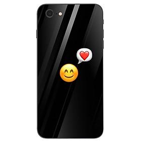 Ốp điện thoại kính cường lực cho máy iPhone 7 / 8 - emoji kute MS EMJKT032
