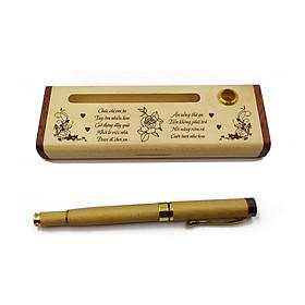 Bộ bút gỗ cao cấp tặng phụ nữ_mẫu 01 (Kèm hộp đựng sang trọng)