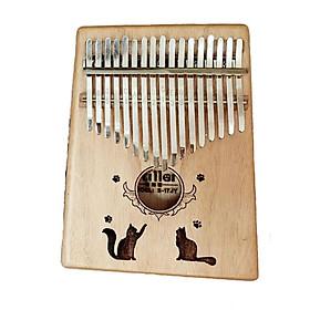 Đàn Kalimba Woim cao cấp 17 phím, Thumb Piano 17 keys - Gỗ Mèo đôi Tặng kèm khóa học miễn phí