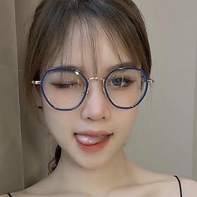 Gọng kính cận mắt tròn góc cạnh lên mặt siêu xinh, kiểu dáng thời trang trẻ trung cá tính