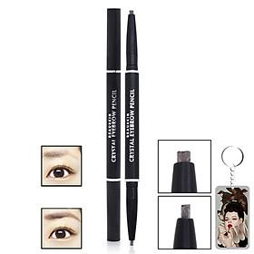 Chì kẻ mày Beauskin Crystal Eyebrow Pencil Hàn Quốc #01 Black tặng móc khóa