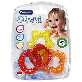 Miếng ngậm nướu chứa nước Lucky Baby - Aqua-Fun Water Teether Series With Link 611197