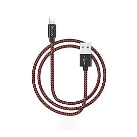 Cáp sạc nhanh Lightning Hoco X14 MAX, hỗ trợ truyền dữ liệu, sạc nhanh 3A MAX, dây sạc bọc dù chống rối, chống đứt dành cho iPhone XS max/iPhone 11/iPhone 11 Pro max - Hàng chính hãng