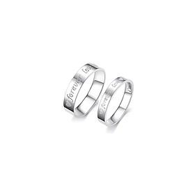Hình đại diện sản phẩm Nhẫn cặp Forever Love N33 Size 6 (Màu bạc)