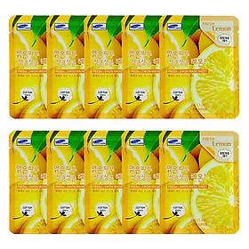 Combo 10 Gói Mặt Nạ Chiết Xuất Chanh 3W Clinic Fresh Lemon Mask Sheet (23ml x 10)