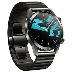 Dây thép cho đồng hồ Huawei GT2, Huawei GT, Galaxy Watch 46 Khóa Bướm Thép Không Gỉ (22mm)
