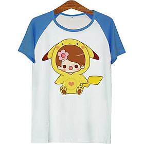 Áo Thun Nam Cô Bé Pikachu - ATCP030