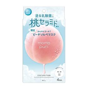 Mặt Nạ Dưỡng Ẩm Hương Đào Tươi Mát Momopuri Jelly Mask Cool (4 Miếng)