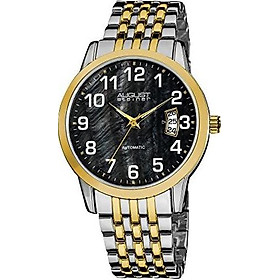 August Steiner Men's Automatic Watch - Mother of Pearl Dial with 3 Day Date Window On Stainless Steel Bracelet - AS8026