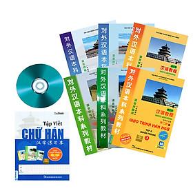 """Combo Giáo trình hán ngữ mới (6 cuốn) và Tập viết theo giáo trình TẶNG CD Bộ tài liệu """"VÔ GIÁ"""" giúp học Tiếng trung từ con số 0"""