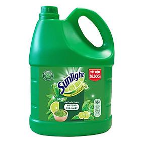 Nước Rửa Chén Khử Mùi Tanh Sunlight Matcha Trà Nhật Mới (3.6kg / Chai)