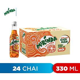 Thùng 24 Chai Nước Ngọt Có Gas Mirinda Cam (330ml/ Chai)