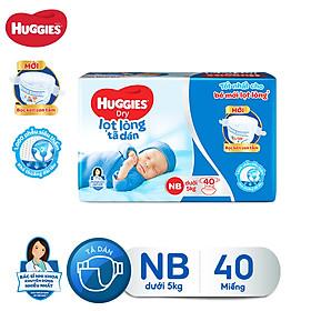 Tã dán sơ sinh Huggies Newborn NB40 - 40 miếng (dưới 5 kg)
