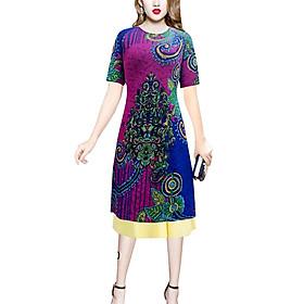 Áo dài nữ kèm chân váy hoạ tiết lạ SP4