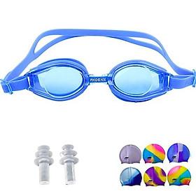 kính bơi silicon trẻ em tặng kèm doang bịt tai và mũ bơi