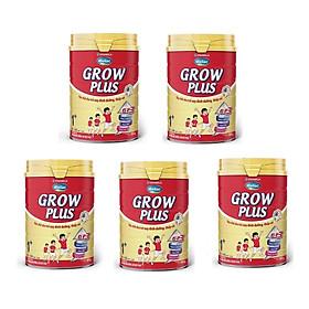 BỘ 5 LON SỮA BỘT VINAMILK DIELAC GROW PLUS 1+ 900G (CHO TRẺ TỪ 1 - 2 TUỔI)