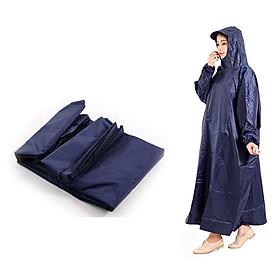 Áo mưa BIT không xẻ tà vải dù size nữ (1m4 tính luôn cả nón) giao màu ngẫu nhiên