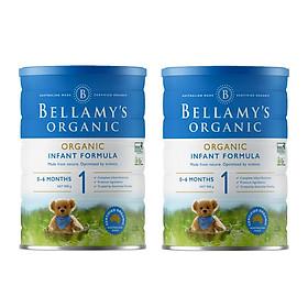 2 Lon Sữa Bột Bellamy's Organic Số 1 (900g)