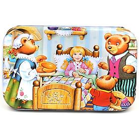 Tranh ghép hình 60 mảnh gỗ hộp thiếc - Bác sĩ gấu 6001