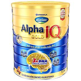 Sữa bột Dielac Alpha Gold IQ Step 4 - Hộp thiếc 1500g (dành cho trẻ 2-6 tuổi)