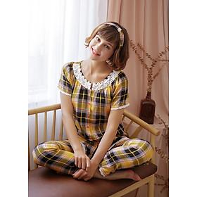 Bộ dài nữ tay ngắn Tvm Luxury Homewear B510