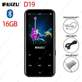 RUIZU D19 MP3 Music Player Bluetooth 4.0 Lossless MP3 Player 16GB Portable Audio Walkman With FM Radio EBook Recording Pedometer MP3 Audio Player