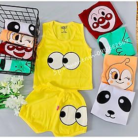 Quần áo trẻ em, combo 5 bộ ba lỗ bé trai( sét ba lỗ hề) size 3-14kg
