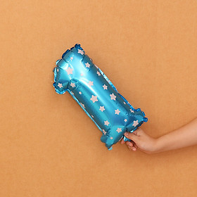 Bóng kiếng số trang trí tiệc sinh nhật màu xanh