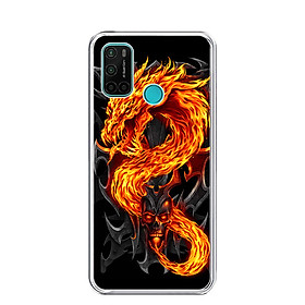 Ốp lưng dẻo cho điện thoại VSMART JOY 4 - 0218 FIREDRAGON - Hàng Chính Hãng