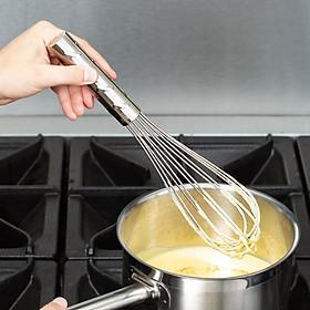 Phới inox trộn bột, đánh trứng, dụng cụ làm bánh, dài 30cm, thương hiệu Vollrath, Mỹ
