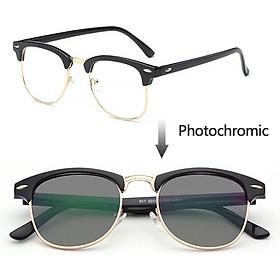 Anti radiation Photochromic eye glasses for women men replaceable lens computer blue light glasses