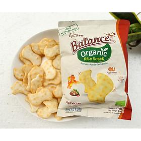 Bánh snack gạo hữu cơ vị BBQ 4Care Balance 25g