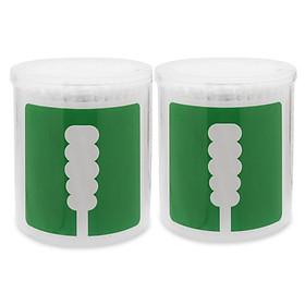Combo 2 hộp Tăm bông thân giấy UD 2 đầu xoắn (hộp 200 que*2)