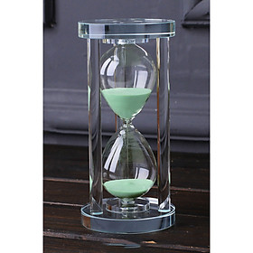 Đồng hồ cát trang trí hình trụ pha lê thủy tinh sáng tạo 15 phút